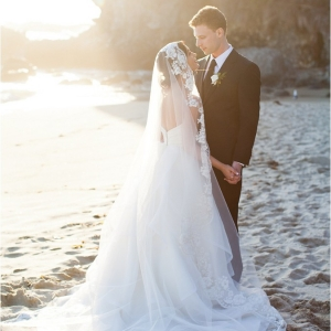 Bride and Groom Beach Portraits