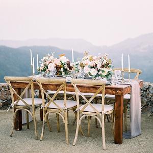 Cliffside Malibu wedding reception