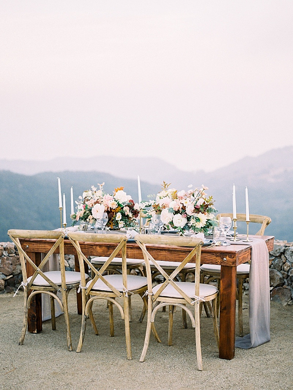 Cliffside Malibu wedding reception