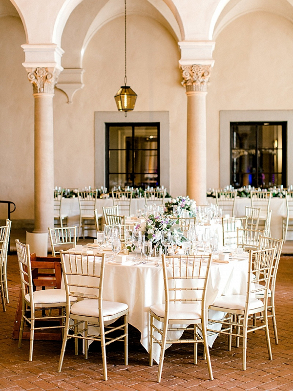 Classic wedding reception at The Athenaeum at Cal Tech