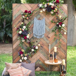 Boho wedding backdrop