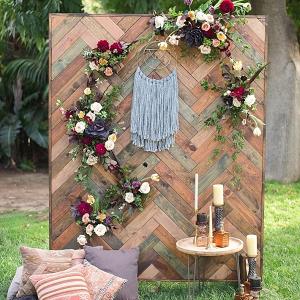 Boho wedding backdrop