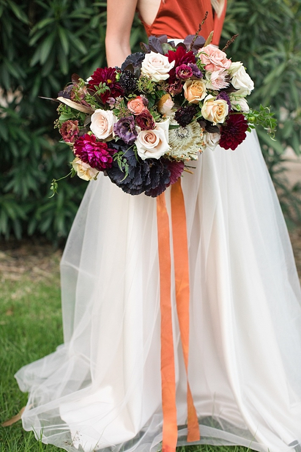 Lush plum and magenta bouquet