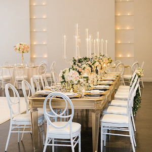 Elegant California wedding reception