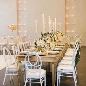 Elegant California wedding reception