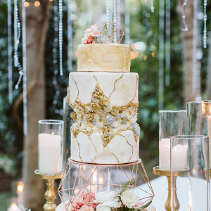 Glam geode wedding cake