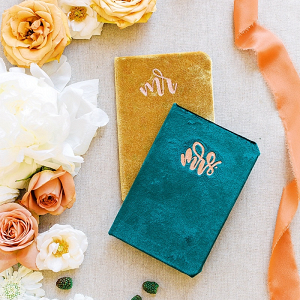 DIY velvet vow book tutorial