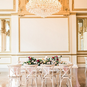 Elegant ballroom wedding reception