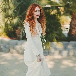 70's boho bride