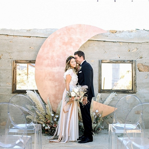 Desert celestial wedding backdrop