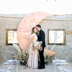 Desert celestial wedding backdrop