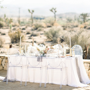 Desert wedding table