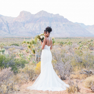 Edgy romantic bridal shoot at Red Rock Canyon Las Vegas