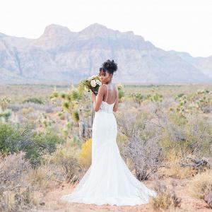 Edgy romantic bridal shoot at Red Rock Canyon Las Vegas