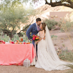 Sonoran desert citrus inspired wedding shoot