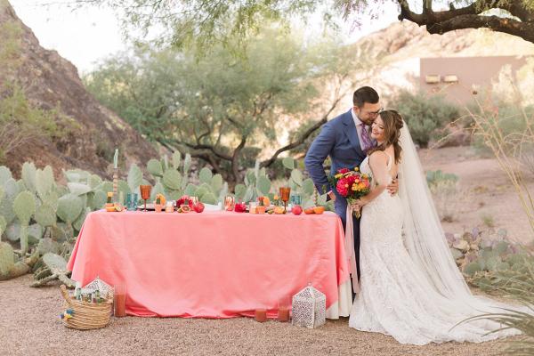 Sonoran desert citrus inspired wedding shoot