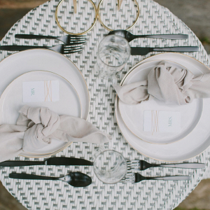 European style elopment tablescape