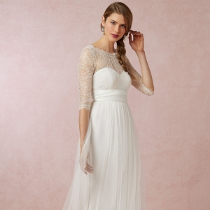 BHLDN Marnie Topper Lace Overlay Paired With Annabelle