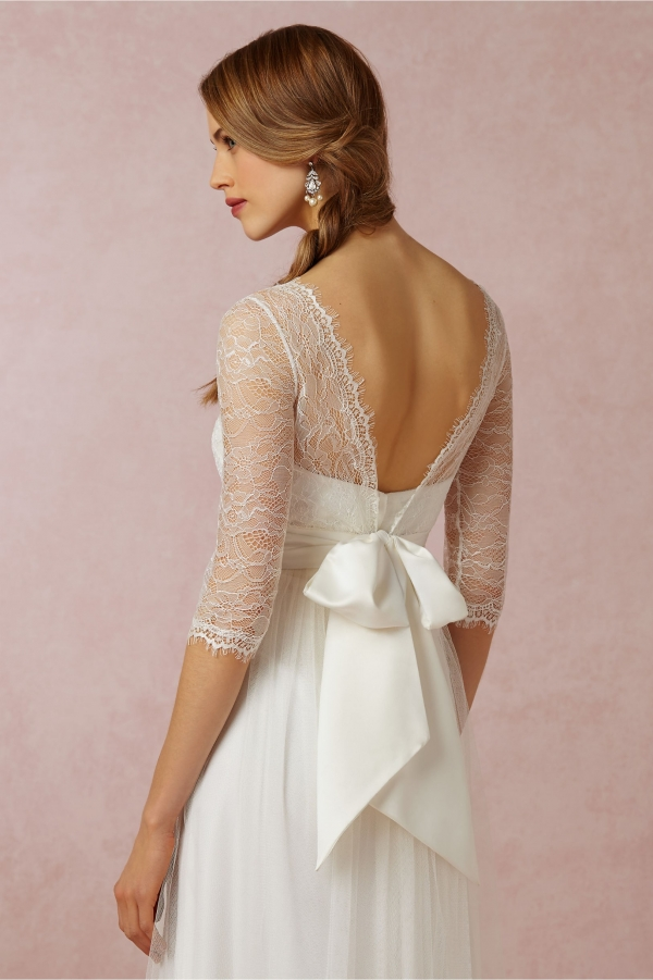 BHLDN Marnie Topper Lace Overlay Back View