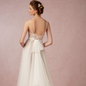 BHLDN Penelope Wedding Dress In Tulle Back View