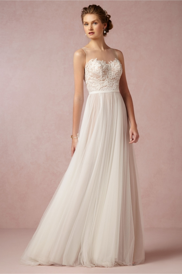 BHLDN Penelope Wedding Dress In Tulle