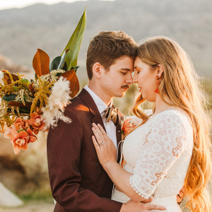Bohemian Joshua Tree vow renewal