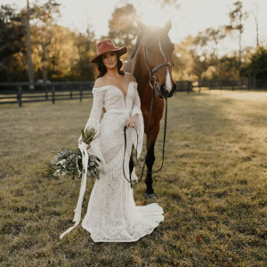 Bohemian ranchstead bridal inspiration