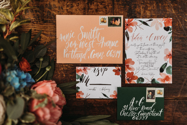 Watercolor Flower Wedding invitations