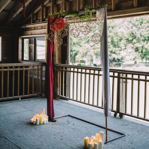 Ceremony arbors with floor candles