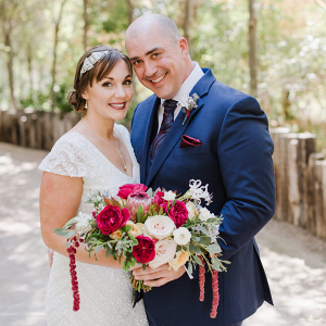 Classic jewel toned wedding in California