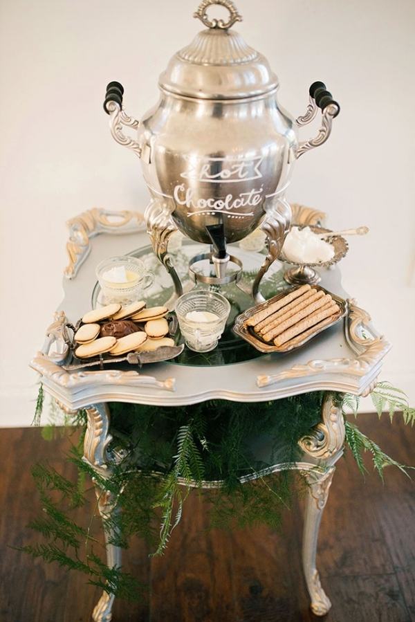 Winter Wedding Perfect Vintage Styled Hot Chocolate Bar Ali McLaughlin Photography