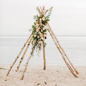 Wooden ceremony arbor