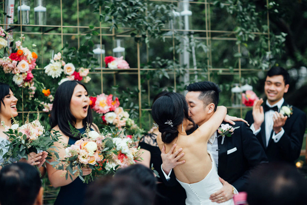 The first of many kisses as husband and wife