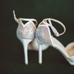 Elegant bridal shoes