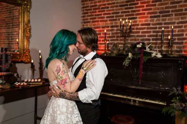 Dark and moody eclectic wedding inspiration