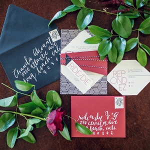 Same Sex Glam Geometric Wedding Invitation Suite Ebell Long Beach Kristina Lee Photography