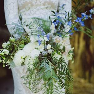 Velaslavasay Panorama Vintage Wedding Hand Tied Organic Bouquet Amber Gress Photography