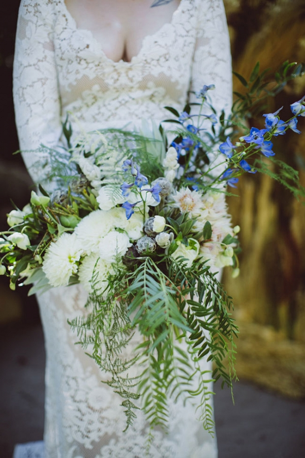 Velaslavasay Panorama Vintage Wedding Hand Tied Organic Bouquet Amber Gress Photography