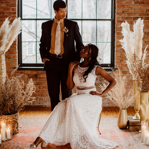 Edgy boho wedding inspiration with earthy tones