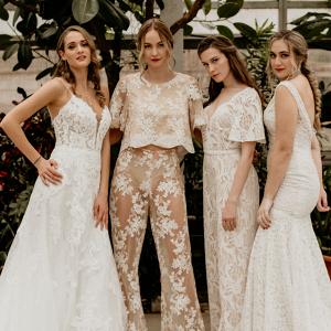 Edgy greenhouse bridal inspiration
