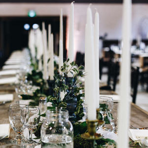 Wedding reception tablescapes