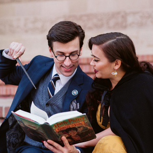 Elegant engagement session inspired by Harry Potter