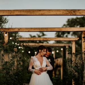 Elegant farmhouse wedding in rome