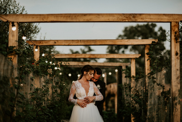 Elegant farmhouse wedding in rome