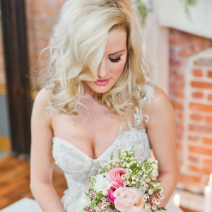 Gorgeous Indoor Loft Boudoir Shot Thats All About Bridal Fashion Samantha McFarlen