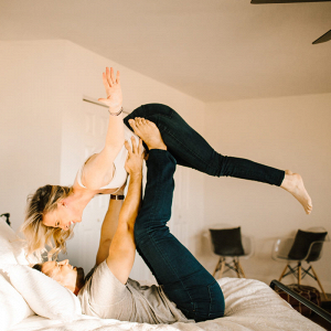 Flying on the bed