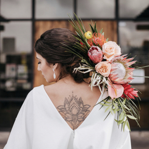 Bridal back tattoo