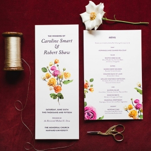 Spring Garden Wedding Invitation Suite Cambridge Harvard Wedding Ashley Caroline Photography
