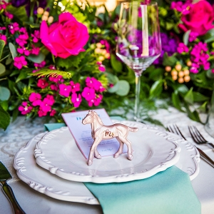 Jewel Tone Equestrian Wedding Place Setting Red Bridge Photography