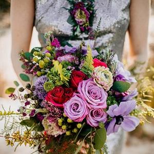 Jewel Tone Beach Wedding Bouquet The Hursts & Co